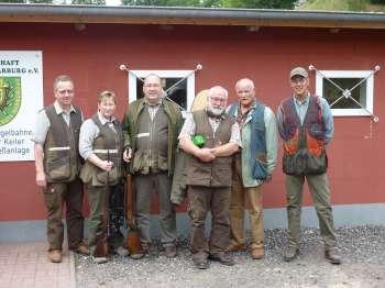 Die Teilnehmer am Kugelstand