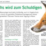 Der Fuchs ist der Schuldige ( Landw. Wochenblatt)